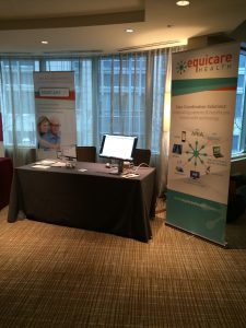 Equicare booth at CoC Accreditation 101 Workshop