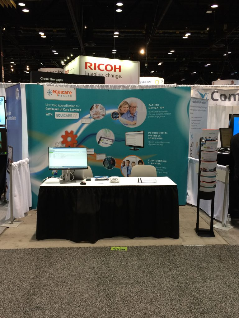 Equicare booth at HIMSS15